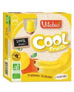 Vitabio Cool Fruits Pomme Banane Bio Gourde 4x90g