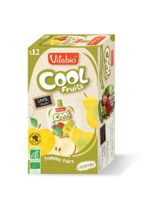 Vitabio Cool Fruits Pomme Poire Bio Gourde 12x90g