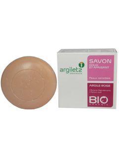Argiletz Savon Argile Rose Parfum Rose 100g