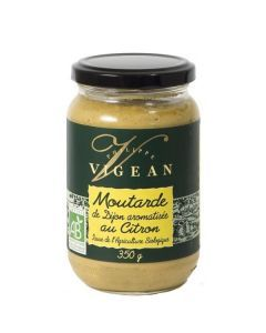 Vigean Moutarde de Dijon Arômatisée au Citron 350g