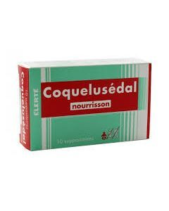Coquelusedal nourrisson suppositoire 10 unités