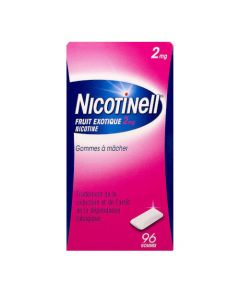 Nicotinell Fruits Exotiques 2mg Nicotine 96 gomme à mâcher