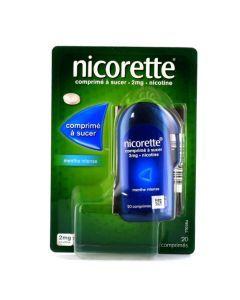 Nicorette Comprimés à Sucer 2md Nicotine Menthe Intense 20 comprimés