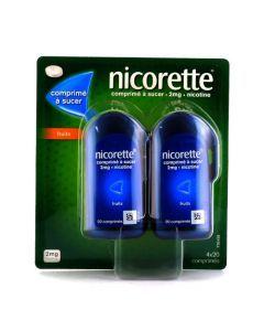 Nicorette Comprimés à Sucer 2mg Nicotine Fruits 2x40 comprimés