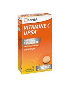 UPSA Vitamine C 500mg  Arôme Orange 30 Comprimés à Croquer