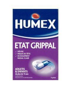 Humexlib État Grippal Paracétamol Chlorphénamine 500mg/4mg gélule