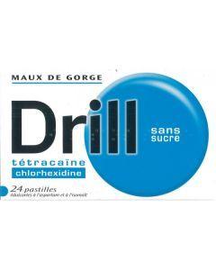 DRILL SANS SUCRE pastille édulcorée à l'aspartam et à l'isomalt