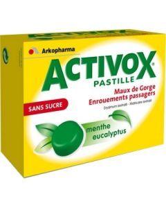 ACTIVOX SANS SUCRE MENTHE EUCALYPTUS pastille édulcorée au sorbitol