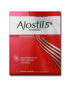 ALOSTIL 5% Solution pour application cutanée 3x60ml