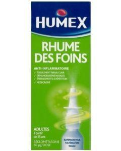 HUMEX RHUME DES FOINS A LA BECLOMETASONE 50 microgrammes/dose suspension pour pulvérisation nasale en flacon