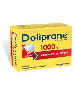 Doliprane 1000mg Poudre Pour Solution Buvable en Sachet-dose 8 sachets