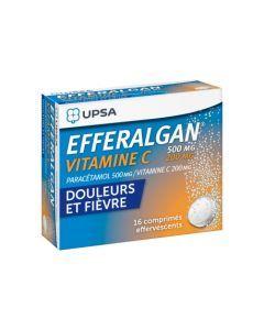 UPSA Efferalgan 500mg Vitamine C 200mg  x16 Comprimés Effervescents