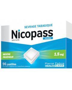 Nicopass 1.5mg Sans Sucre Menthe Fraîcheur 96 Pastilles