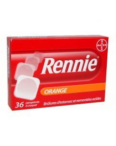 RENNIE ORANGE comprimé à croquer
