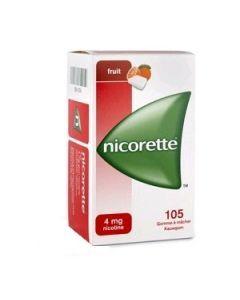 Nicorette Fruits 4mg Sans Sucre 105 Gommes