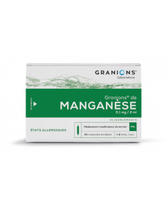 Granions De Manganèse 0,1Mg/2Ml 30 Ampoules