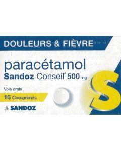 Sandoz Conseil Paracétamol 500mg 16 comprimés