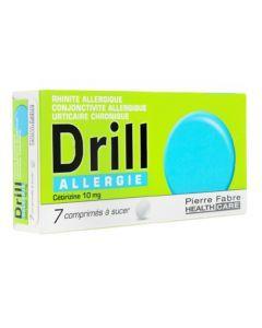 Drill Allergie Cetirizine 10mg 7 comprimés à sucer