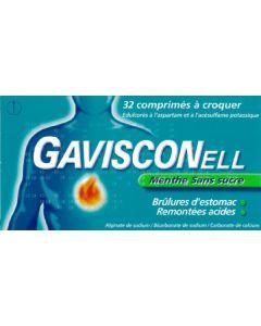 GAVISCONELL SANS SUCRE MENTHE comprimé à croquer édulcoré à l'aspartam et à l'acésulfame potassique