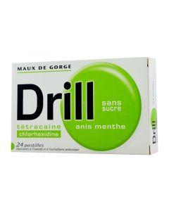 DRILL SANS SUCRE ANIS MENTHE pastille édulcorée à l'isomalt et à l'acésulfame de potassium
