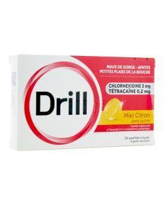Drill sans sucre Miel Citron 24 pastilles à sucer