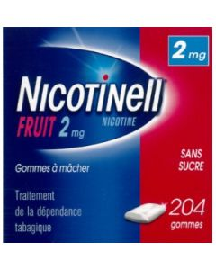 NICOTINELL FRUIT 2mg SANS SUCRE gomme à mâcher