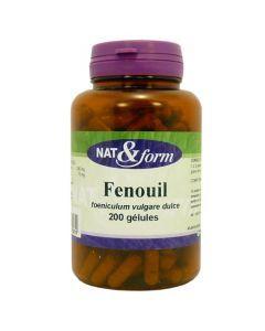 Nat&Form Charbon/fenouil 120 Gélules