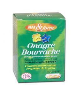 Nat&Form Onagre-bourrache 120 Capsules