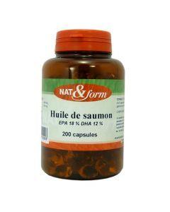 Nat&Form Huile de Saumon 200 Capsules