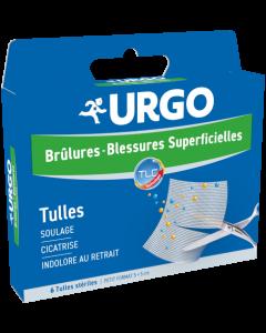 Urgo Brûlure Blessures Superficielles 5x5 cm 6 tulles stériles