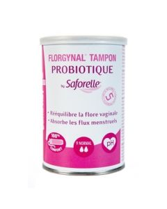 Saforelle Florgynal Tampon Probiotique Compact Normal avec Applicateur 9 Tampons