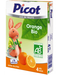 Picot Jus de Fruits Orange Bio 10 Ampoules