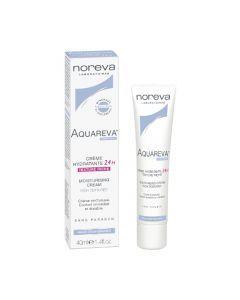 Noreva Aquareva Crème hydratante 24h riche Peaux sèches à très sèches 40ml