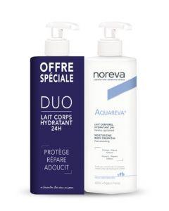Noreva Aquareva  Duo - Lait Corporel Hydratant 24H 2 x 400ml