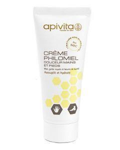 Apivita Crème Philomiel Douceur Mains et Pieds 20ml