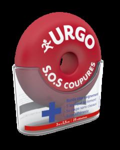 Urgo S.O.S Coupures Bande Stop Saignement 3m x 2,5cm 25 utilisations