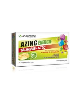 Arkopharma Azinc Énergie Taurine et VitamineC 30 comprimés