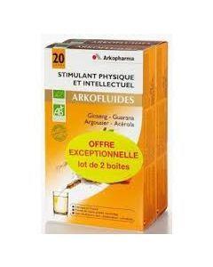 Arkopharma Arkofluide Stimulant Physique et Intellectuel Bio Duo 20 Ampoules