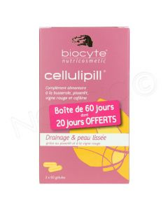 Biocyte Cellulipill Cellulite et Rétention d'Eau 2 Boîtes + 1 Offerte 60 Gélules