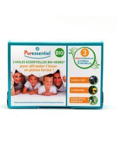 Puressentiel Coffret 3 Huiles Essentielles Hiver Bio 3x10ml