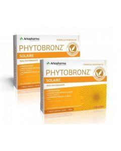 Arkopharma Phytobronz Préparateur Solaire Huiles Végétales Lot de 2x30 capsules