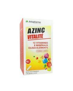 Arkopharma Azinc Adulte Vitamines C et E Manganèse Zinc 120 gélules