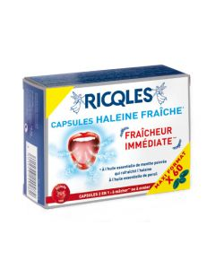 Ricqles Capsules Haleine Fraiche - 60 Capsules
