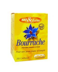 Nat&Form Bourrache 120 Capsules
