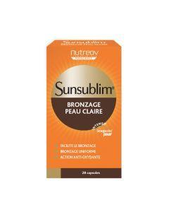 Nutreov Physcience Sunsublim Bronzage Peau Claire Boite 28 Capsules