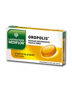 Mediflor Oropolis Pastilles Adoucissantes Pour la Gorge Orange X 20