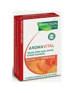 Phytosun Arôms Aromavital Fatigue et Surmenage 20 Ampoules