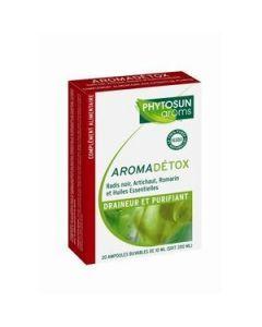 Phytosun Arôms Aromadétox Draineur et Purifiant 20 Ampoules