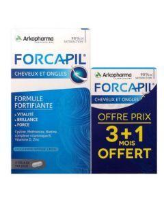 Arkopharma Forcapil Cheveux et Ongles Zinc Vitamine D 180 + 60 gélules
