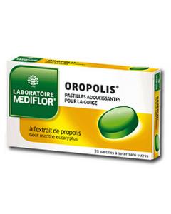 Mediflor Oropolis Pastilles Adoucissantes Pour la Gorge Menthe Eucalyptus X 20